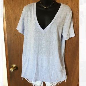 Forever 21 Lavender V-Neck T-Shirt